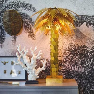 Lampe à poser Palmier laiton
