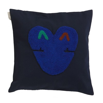 Coussin Nido Kukuy night blue