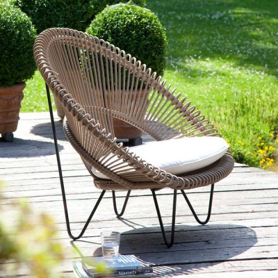 Fauteuil Roy Cocoon camel