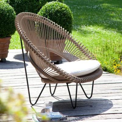 Roy Cocoon camel armchair