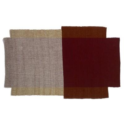 Nobsa rug S red/ochre/cream