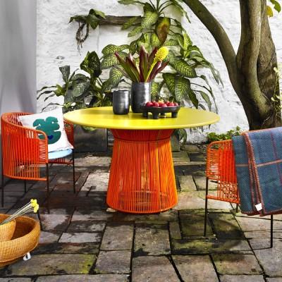 Caribe table orange/curry