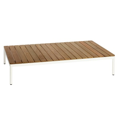Riad coffee table rectangular teak white Oasiq