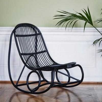 Nanny rocking chair polished black