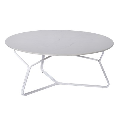 Serac coffee table 85 cm white Oasiq