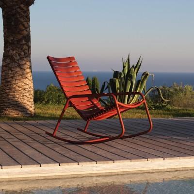 Rocking chair Clips monocolore Paprika