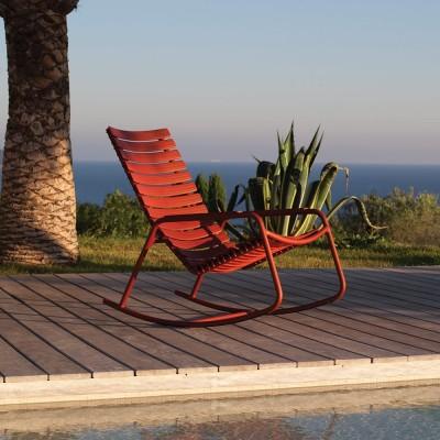 Rocking chair Clips monocolor paprika