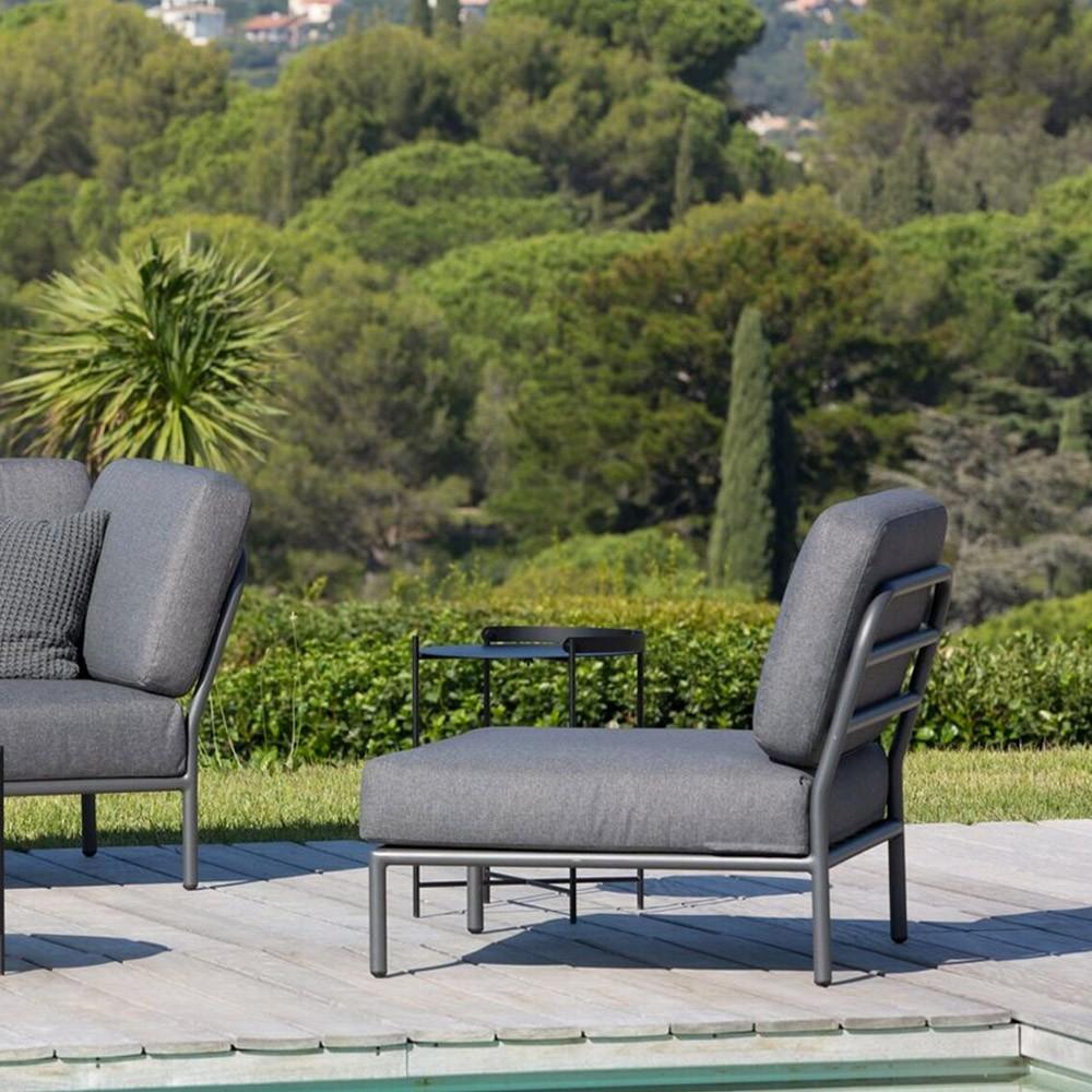 Chaise lounge Level gris foncé