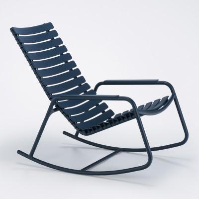 Rocking chair Clips monochrome bleu nuit