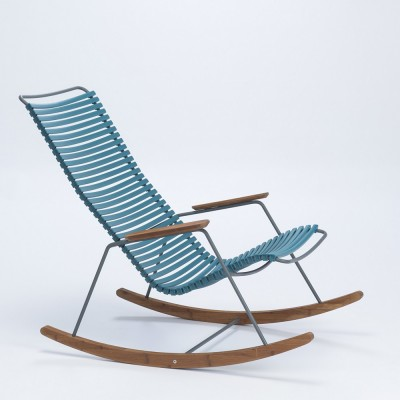 Rocking chair Click bleu pétrole