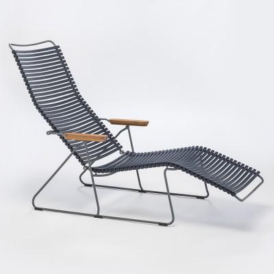 Chaise longue Click bleu foncé