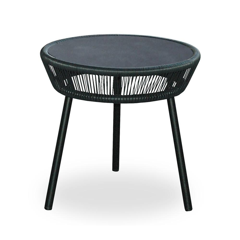 table d 39 appoint loop noir vincent sheppard. Black Bedroom Furniture Sets. Home Design Ideas