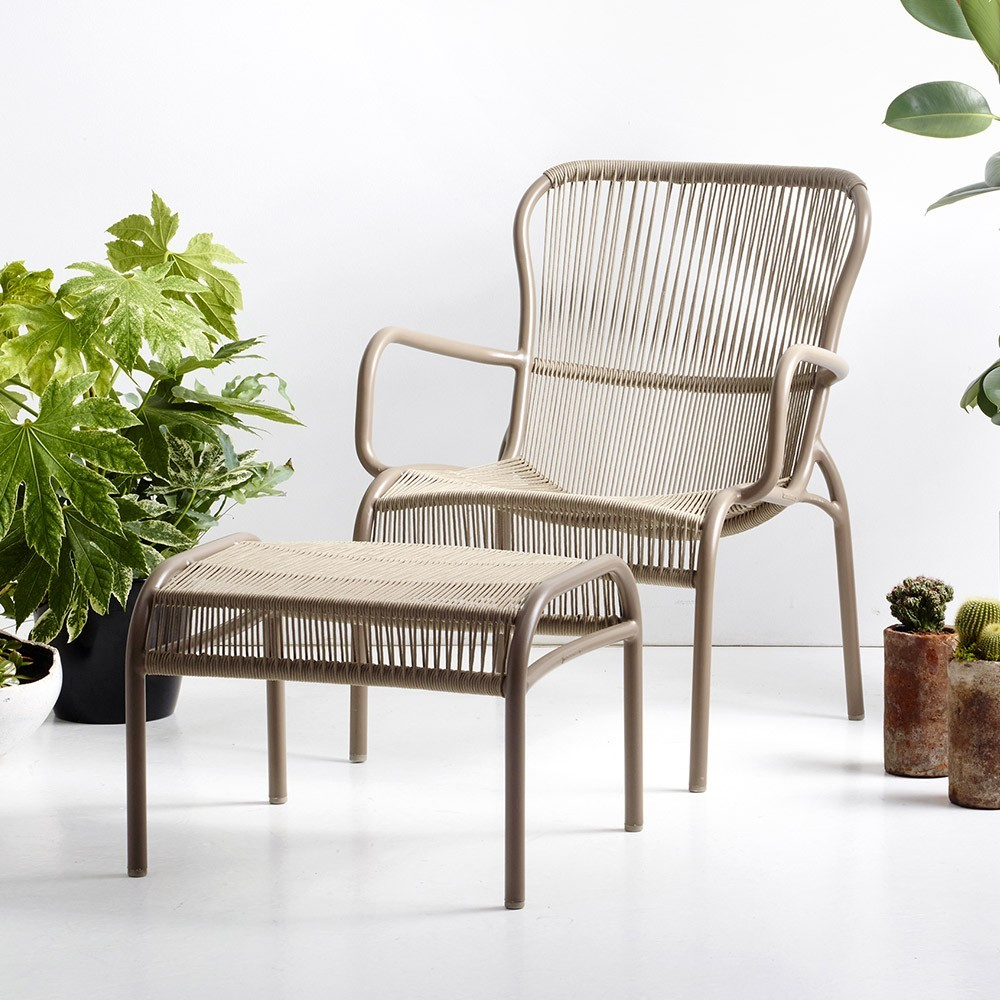 Wondrous Loop Lounge Chair Taupe Set Of 2 Vincent Sheppard Customarchery Wood Chair Design Ideas Customarcherynet