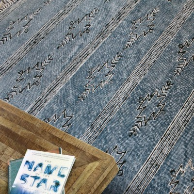 Gamba rug indigo The Rug Republic