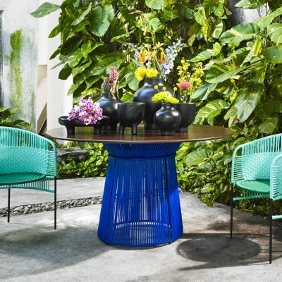 Caribe table blue/black