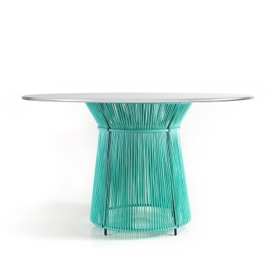 Table Caribe mint/grey white