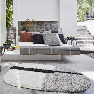 Nudo rug S white/beige/rose