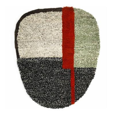 Nudo rug S grey/green/black