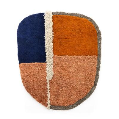Tapis Nudo L bleu/orange/ocre