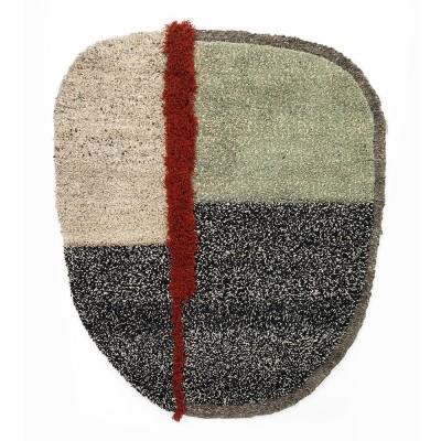 Nudo rug L grey/green/black