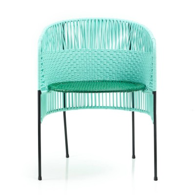 Chaise Caribe mint/green/black