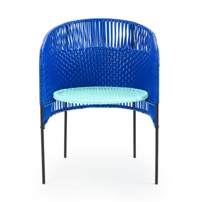 Chaise Caribe blue/mint/black