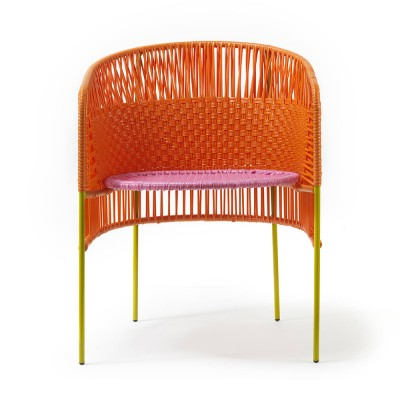 Chaise Caribe orange/rose/curry
