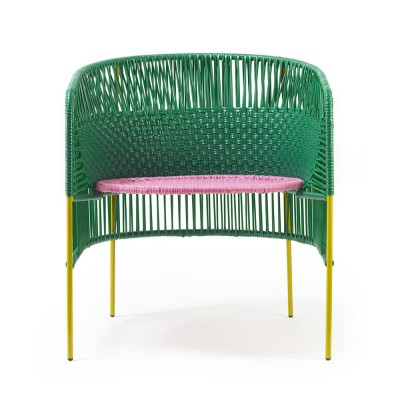 Chaise Lounge Caribe green/pink/curry