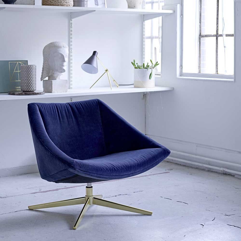 Elegant armchair blue