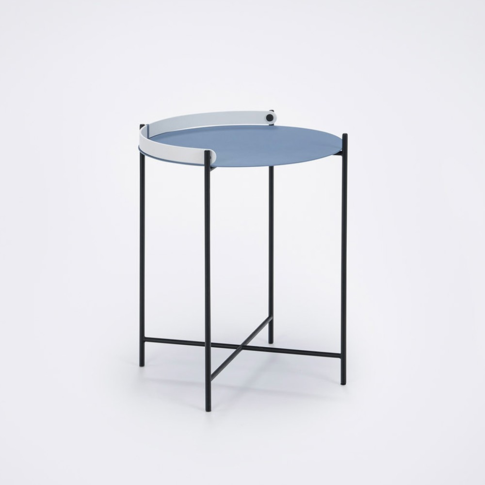 Fine Edge Tray Table O46Cm Pigeon Blue Gmtry Best Dining Table And Chair Ideas Images Gmtryco