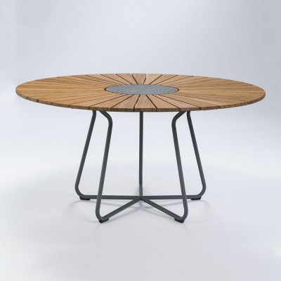 Circle dining table Ø150 cm bamboo Houe