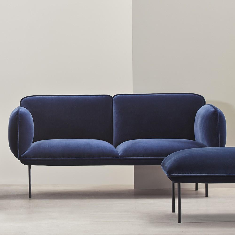 canap 2 places nakki en velours tissu kvadrat harald 3 woud. Black Bedroom Furniture Sets. Home Design Ideas
