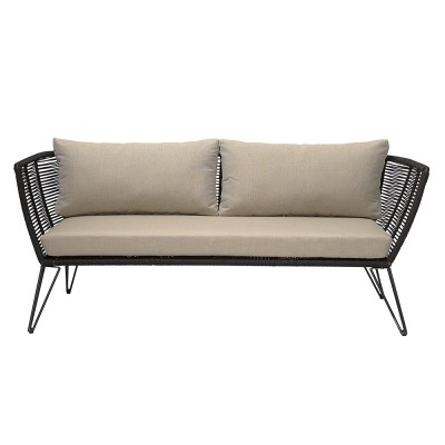 Rope sofa black & taupe