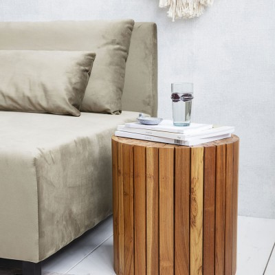 Teaky side table nature House Doctor