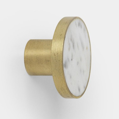 Stone hook white marble L