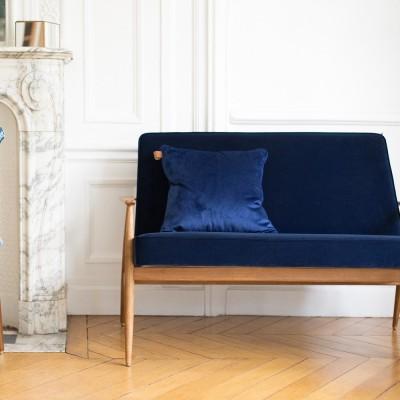 Fox sofa Velvet indigo