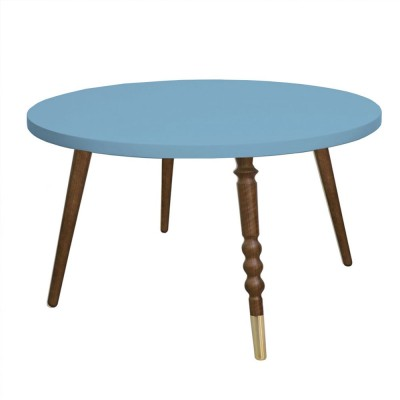 Table basse ronde My lovely ballerine bleu & noyer M Jungle by Jungle