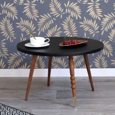 Table basse ronde My lovely ballerine noir & noyer M Jungle by Jungle