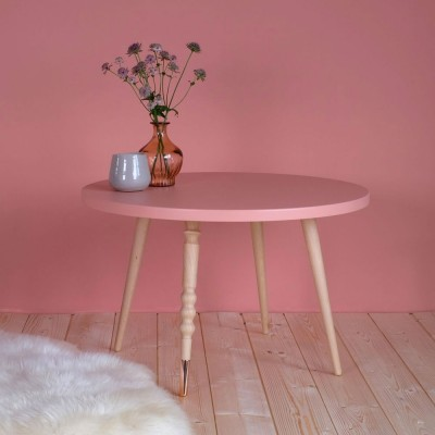 Table basse ronde My lovely ballerine rose & hêtre M Jungle by Jungle