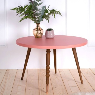 Table basse ronde My lovely ballerine rose & noyer M Jungle by Jungle