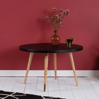 Table basse ronde My lovely ballerine noir & hêtre M Jungle by Jungle