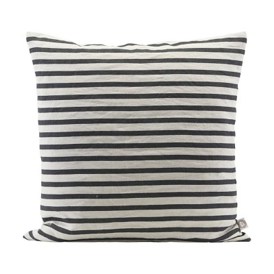 Stripe cushion black & grey House Doctor