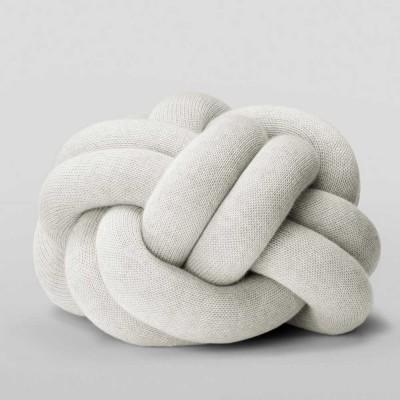 Knot light grey cushion