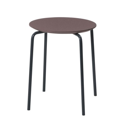 Tabouret Herman bordeaux