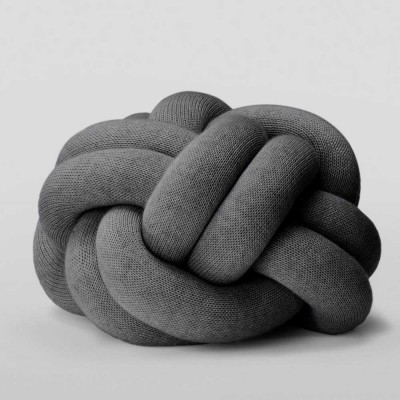 Knot grey cushion