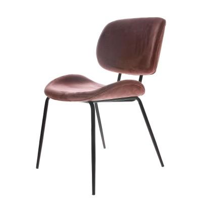 Dining chair velvet old pink