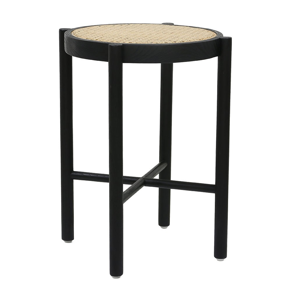 Retro Webbing Stool Black Hk Living