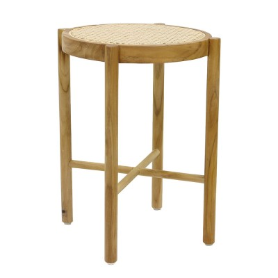 Retro webbing stool natural HK Living