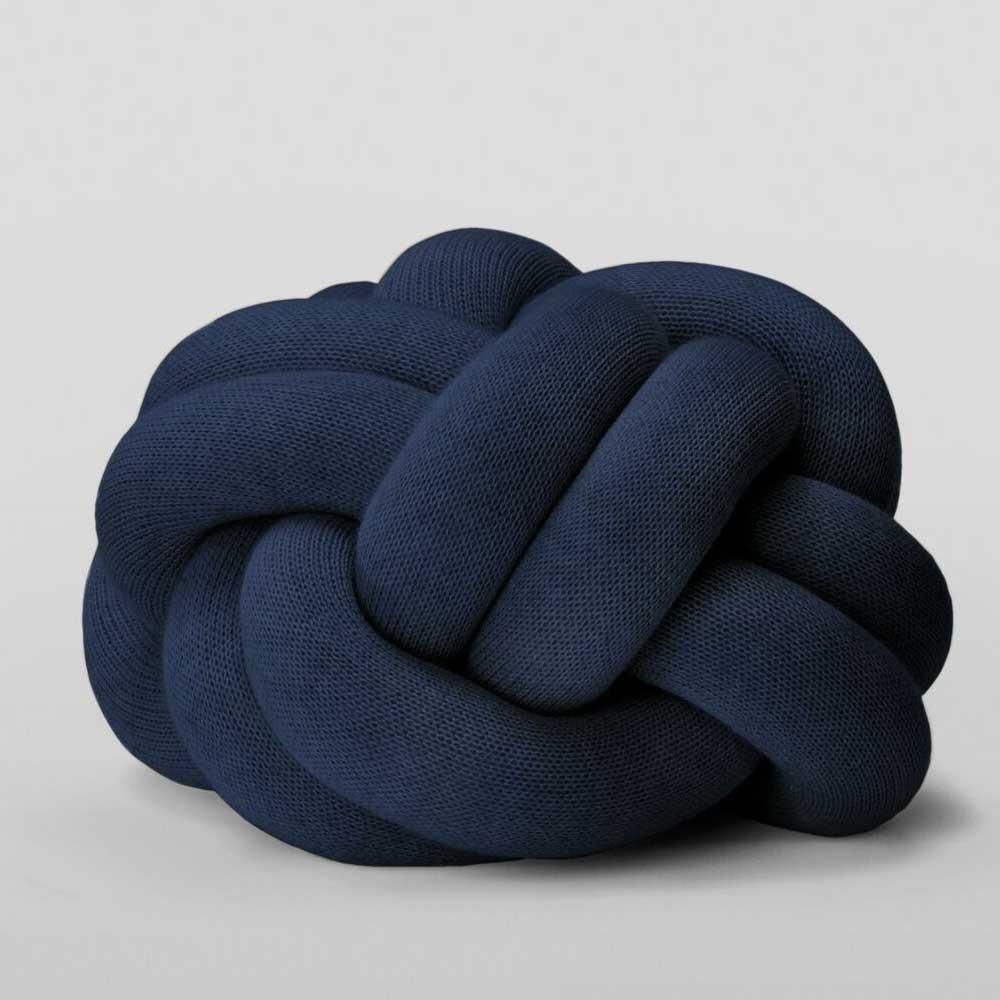 Knot navy cushion