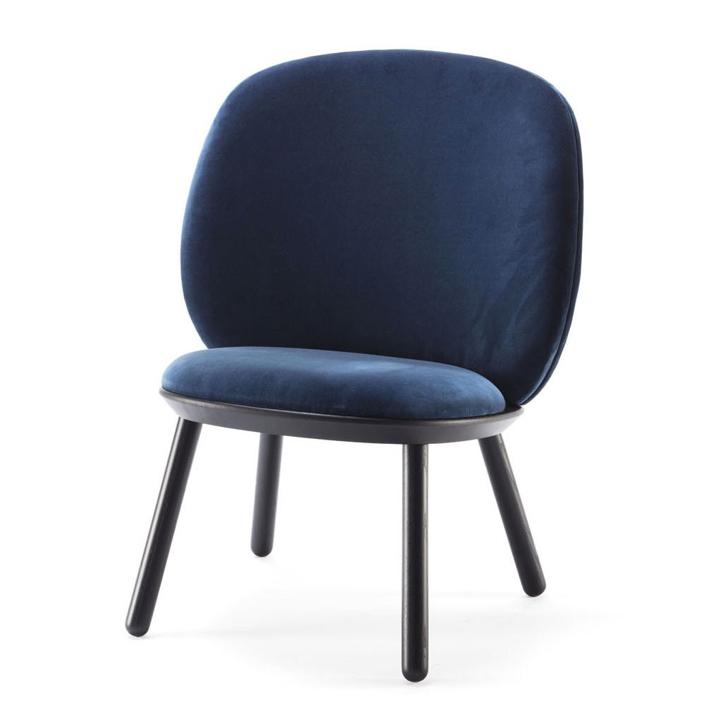 ... Naïve Low Chair Royal Blue Velvet ...